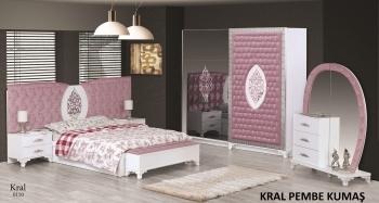 Schlafzimmerset Kral Weiß Rosa