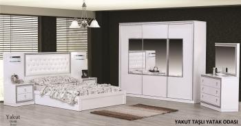 Schlafzimmerset Yakut Weiß