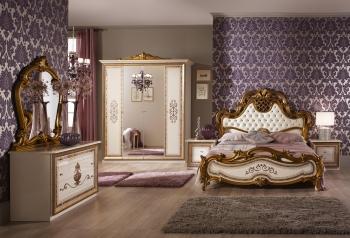 Schlafzimmerset Anita Beige