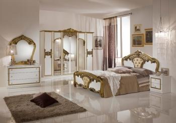 Schlafzimmerset Eva Weiß Gold