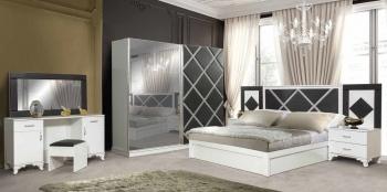 Schlafzimmerset Lara Weis Schwarz