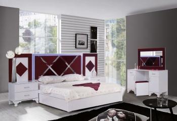 Schlafzimmerset Lara Weis Bordo