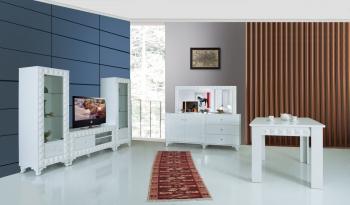 Wohnzimmerset Solo Weiß